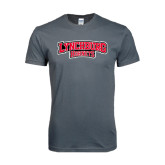Next Level SoftStyle Charcoal T Shirt-Lynchburg Hornets