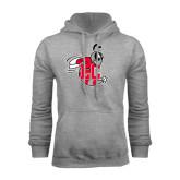 Grey Fleece Hoodie-Hornet