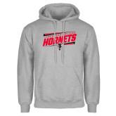 Grey Fleece Hoodie-Lynchburg College Hornets Stencil