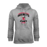 Grey Fleece Hoodie-Lynchburg College Hornets