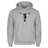 Grey Fleece Hoodie-Hornet Bevel L
