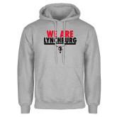 Grey Fleece Hoodie-We Are Lynchburg