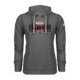 Adidas Climawarm Charcoal Team Issue Hoodie-ODAC Champions Womens Basketball