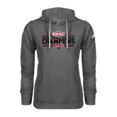 Adidas Climawarm Charcoal Team Issue Hoodie-ODAC Champions Mens Basketball