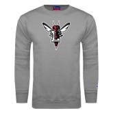 Grey Fleece Crew-Hornet Bevel L