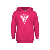 Youth Raspberry Fleece Hoodie-Hornet Bevel L