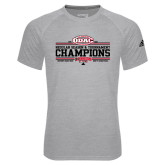 Adidas Climalite Sport Grey Ultimate Performance Tee-ODAC Champions Mens Basketball