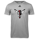 Adidas Climalite Sport Grey Ultimate Performance Tee-Hornet Bevel L