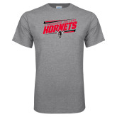 Grey T Shirt-Lynchburg College Hornets Stencil