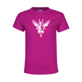 Youth Cyber Pink T Shirt-Hornet Bevel L