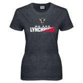 Ladies Dark Heather T Shirt-We Are Lynchburg Two-Tone