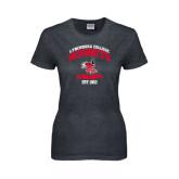 Ladies Dark Heather T Shirt-Lynchburg College Hornets