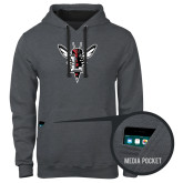 Contemporary Sofspun Charcoal Heather Hoodie-Hornet Bevel L