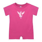 Bubble Gum Pink Infant Romper-Hornet Bevel L