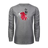 Grey Long Sleeve T Shirt-Hornet