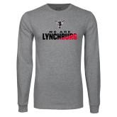 Grey Long Sleeve T Shirt-We Are Lynchburg Two-Tone