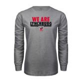 Grey Long Sleeve T Shirt-We Are Lynchburg