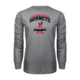 Grey Long Sleeve T Shirt-Lynchburg College Hornets