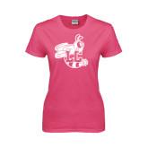 Ladies Fuchsia T Shirt-Hornet