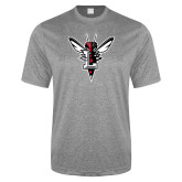 Performance Grey Heather Contender Tee-Hornet Bevel L