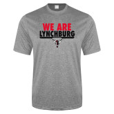 Performance Grey Heather Contender Tee-We Are Lynchburg