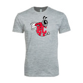Next Level SoftStyle Heather Grey T Shirt-Hornet