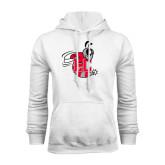 White Fleece Hoodie-Hornet