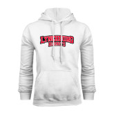 White Fleece Hoodie-Lynchburg Hornets