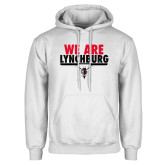 White Fleece Hoodie-We Are Lynchburg