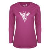 Ladies Syntrel Performance Raspberry Longsleeve Shirt-Hornet Bevel L