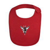 Red Baby Bib-Hornet Bevel L