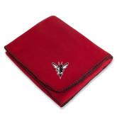 Red Arctic Fleece Blanket-Hornet Bevel L