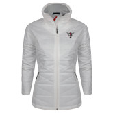 Columbia Mighty LITE Ladies White Jacket-Hornet Bevel L