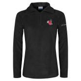 Columbia Ladies Half Zip Black Fleece Jacket-Hornet