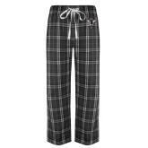 Black/Grey Flannel Pajama Pant-Hornet Bevel L