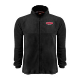 Fleece Full Zip Black Jacket-Lynchburg Hornets