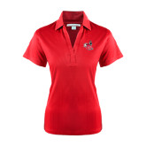 Ladies Red Performance Fine Jacquard Polo-Hornet