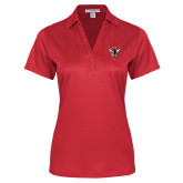 Ladies Red Performance Fine Jacquard Polo-Hornet Bevel L