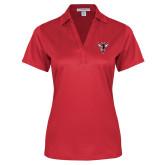 Ladies Red Performance Fine Jacquard Polo-Hornet Bevel L