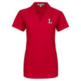 Ladies Red Dry Zone Grid Polo-Stinger L