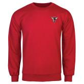 Red Fleece Crew-Hornet Bevel L