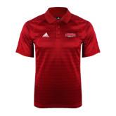 Adidas Climalite Red Jaquard Select Polo-Lynchburg Hornets