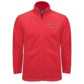 Fleece Full Zip Red Jacket-Lynchburg Hornets