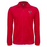 Fleece Full Zip Red Jacket-Hornet Bevel L