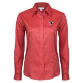 Ladies Red House Red Long Sleeve Shirt-Hornet Bevel L