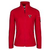 Columbia Ladies Full Zip Red Fleece Jacket-Hornet Bevel L