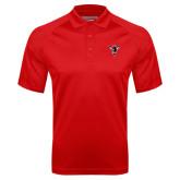 Red Textured Saddle Shoulder Polo-Hornet Bevel L