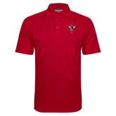 Red Textured Saddle Shoulder Polo-Hornet Bevel L