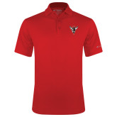 Columbia Red Omni Wick Round One Polo-Hornet Bevel L