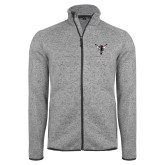 Grey Heather Fleece Jacket-Hornet Bevel L